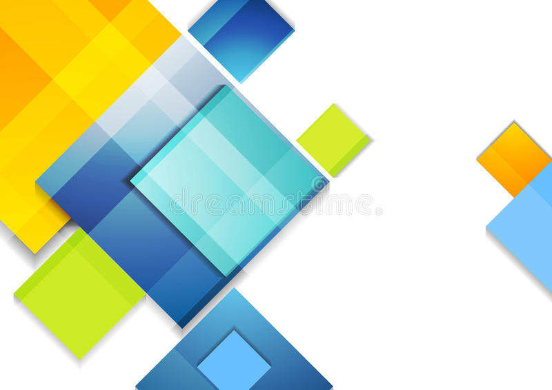Kolorowych abstrakcjonistycznych glansowanych kwadratów korporacyjny projekt royalty ilustracja