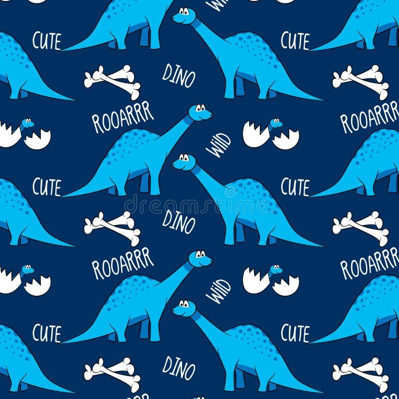 kolorowych deseniowych planowanymi różnych możliwych wektora brontosaurus ilustracja wektor