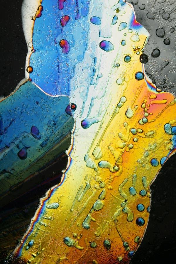 kolorowych kryształów lodowy macro zdjęcie royalty free