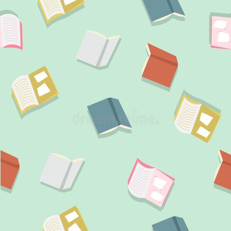 Kolorowych książek deseniowy wektor fotografia stock