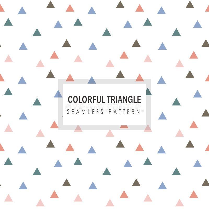 Kolorowych Małych trójboków Bezszwowy wzór ilustracji