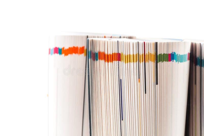 Kolorowych magazynów zamknięta up fotografia zdjęcie stock