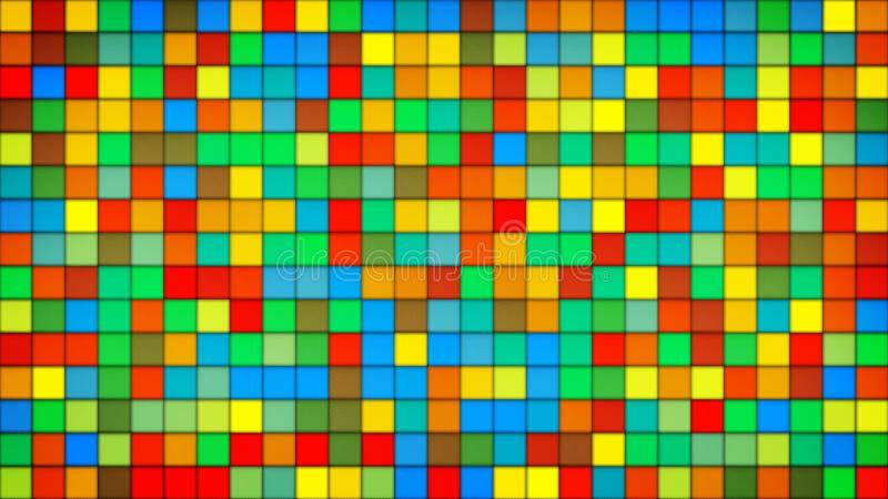Kolorowych płytek mozaiki szklany tło ilustracji