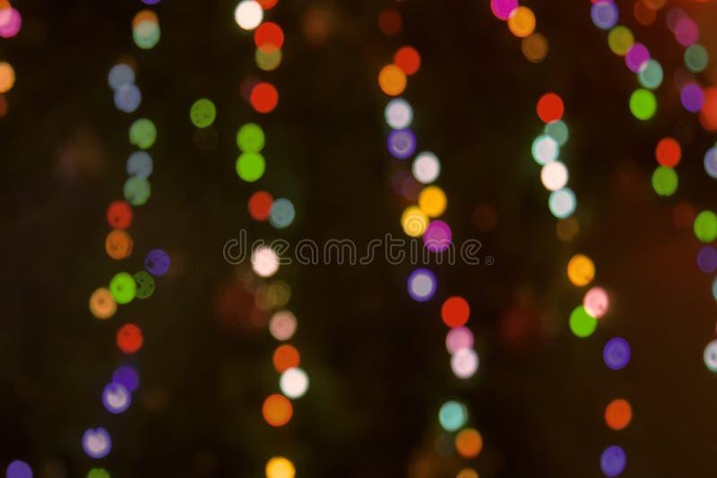 Koloru świecenie w formie okręgi fotografia stock