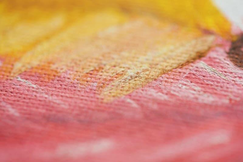Koloru żółtego i menchii farba obrazy royalty free