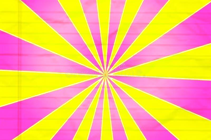 Koloru żółtego I menchii szpilki koło royalty ilustracja
