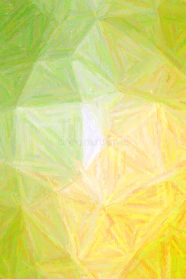 Koloru żółtego, zieleni i bielu pastel z długim muśnięciem, muska pionowo tło ilustrację ilustracja wektor