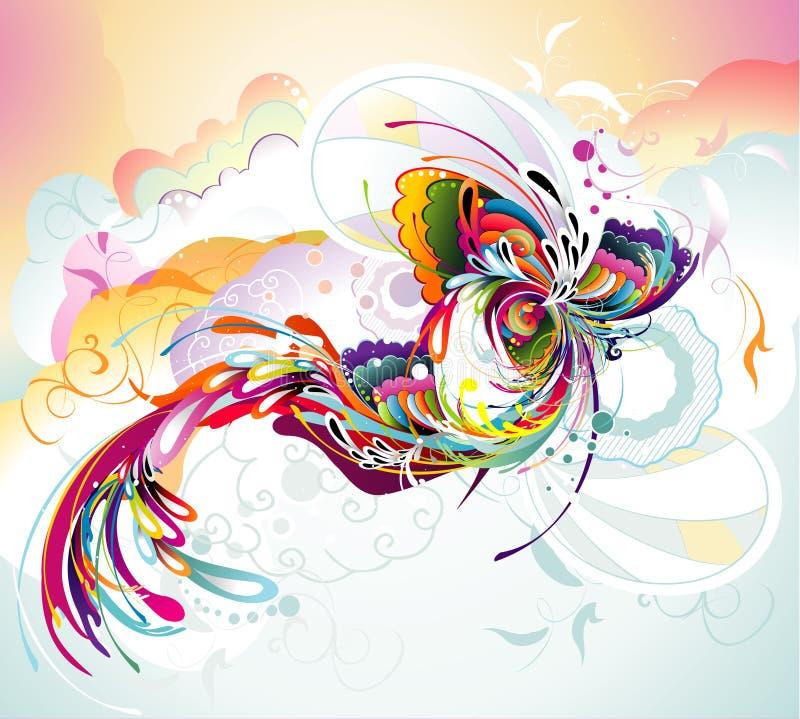 koloru abstrakcjonistyczny skład ilustracja wektor