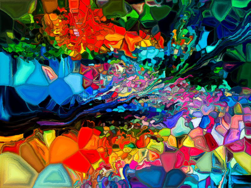Koloru abstrakcjonistyczny wzór obrazy royalty free