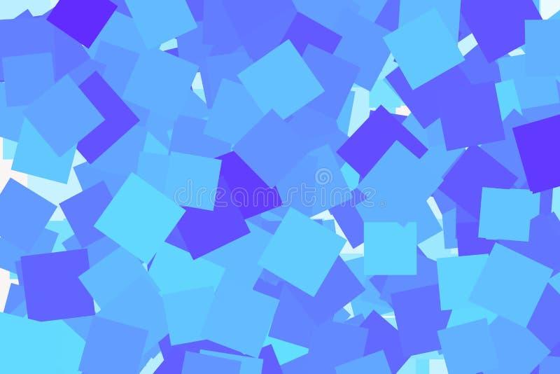 Koloru abstrakta kwadrat, prostokąt sztuki deseniowy generatywny tło Kształtuje, powtarza, wektor, styl & grafika, ilustracja wektor