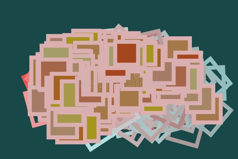 Koloru abstrakta kwadrat, prostokąt sztuki deseniowy generatywny tło Sieć, styl, pokrywa & grafika, ilustracji