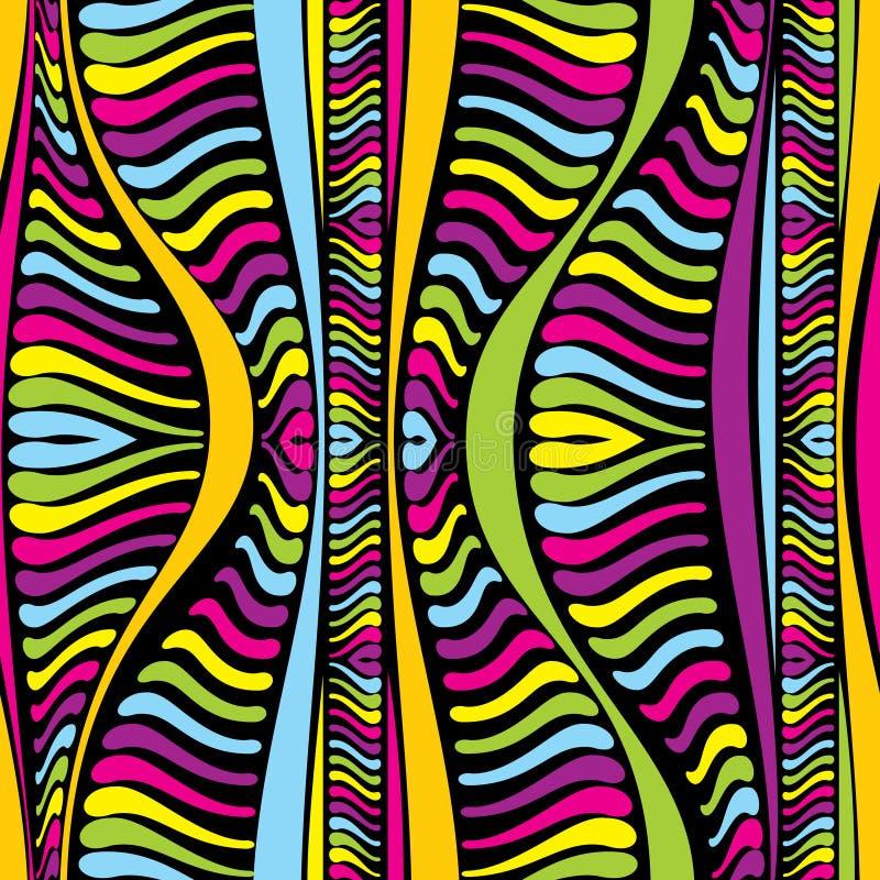 Koloru afrykanina abstrakcjonistyczne linie royalty ilustracja