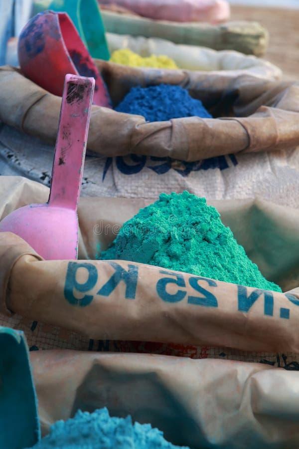Koloru barwidła worki obrazy stock