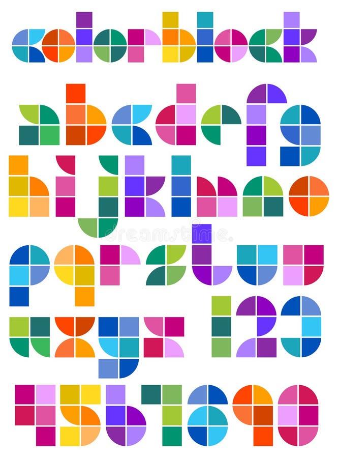 Koloru Blokowy Abstrakcjonistyczny abecadło royalty ilustracja