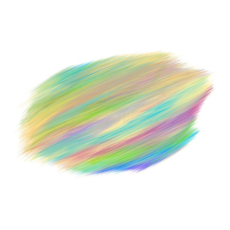 Koloru brushstroke nafcianej, akrylowej farby projekta element dla lub, Wektorowy illustrat royalty ilustracja