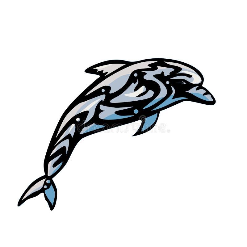 Koloru Delfinu Logo royalty ilustracja