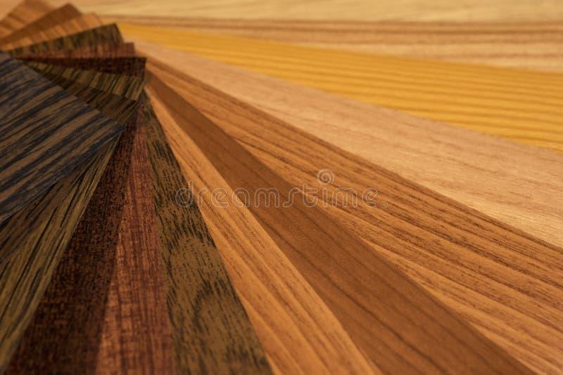 Koloru drewna i palety tekstury próbek przewdonik obrazy royalty free