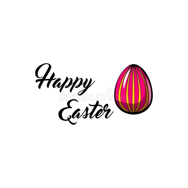 koloru Easter jajka Szczęśliwy Wielkanocny kartka z pozdrowieniami Wielkanocny symbol wielkanoc jajko malowaniu wektor royalty ilustracja
