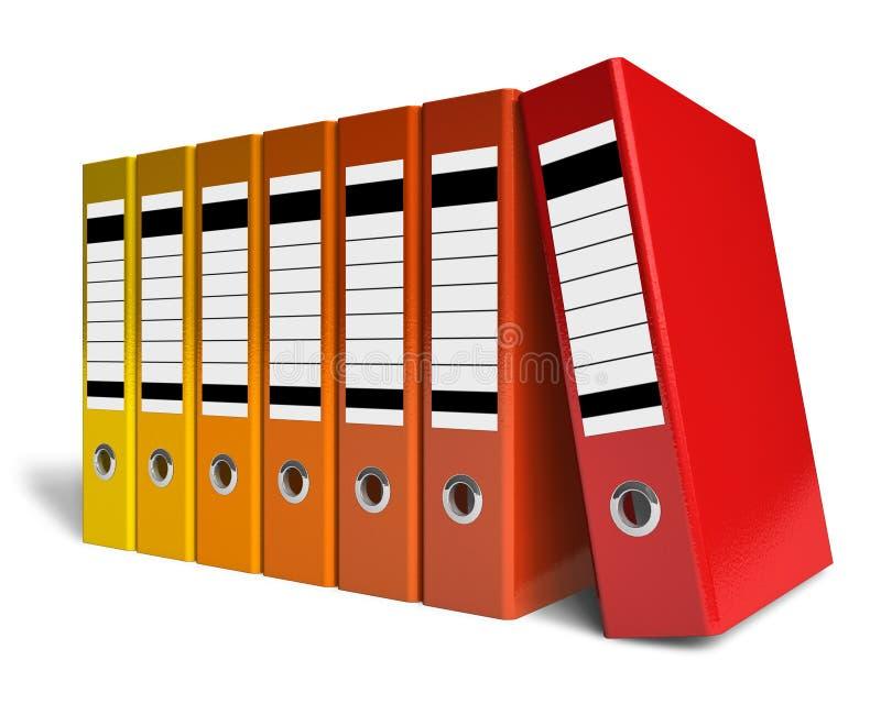 koloru falcówek biurowy rząd ilustracji