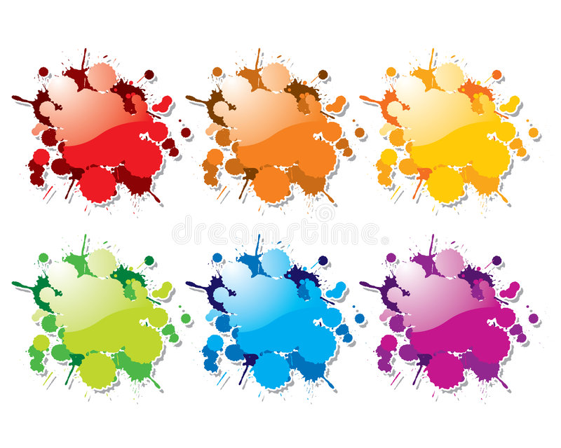 koloru farby pluśnięć wektor ilustracji
