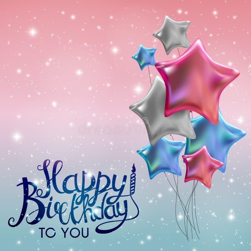 Koloru Glansowany wszystkiego najlepszego z okazji urodzin Szybko się zwiększać sztandaru tła wektoru ilustrację ilustracji