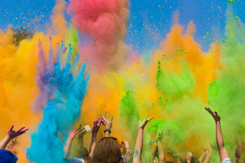 Koloru Holi festiwal obraz stock