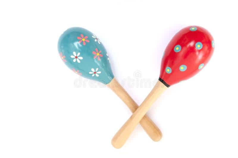 koloru instrumentu marakasów muzyki perkusja obrazy stock