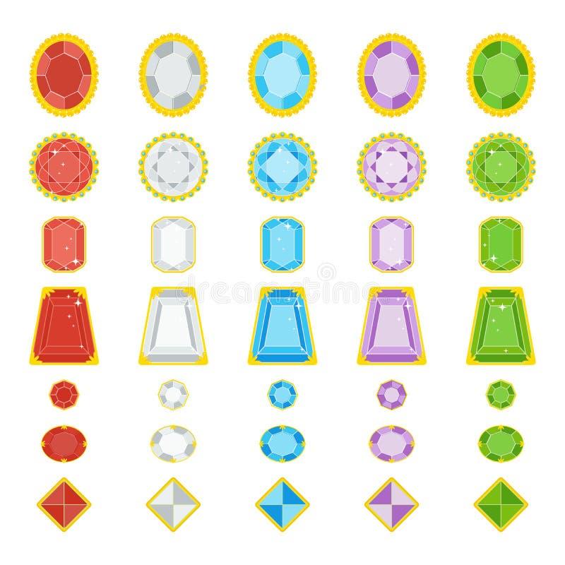Koloru jewerly klejnoty ilustracji