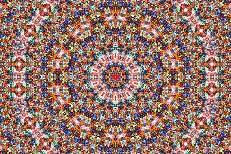 koloru kalejdoskopu wzór fotografia stock
