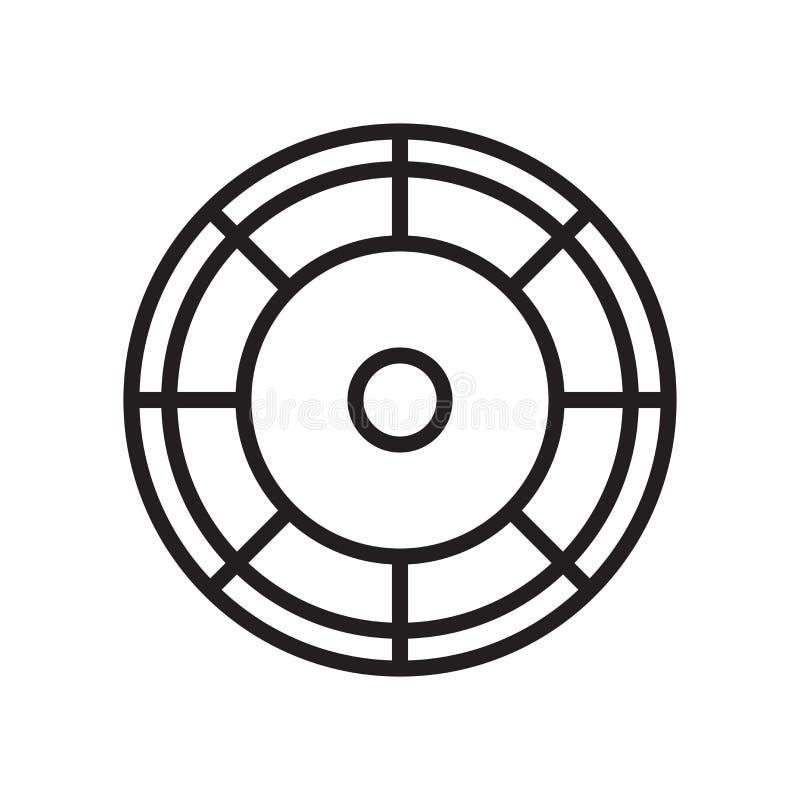 Koloru koła ikony wektoru znak i symbol odizolowywający na białym backgr ilustracji