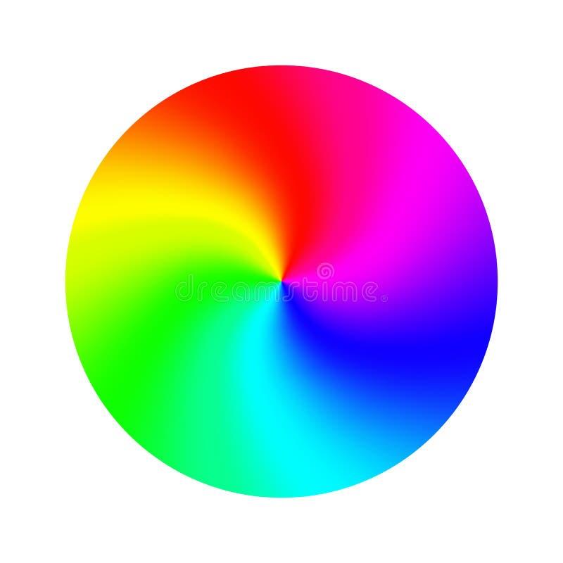 Koloru koła wektor Abstrakcjonistyczny kolorowy tęcza okrąg button ręce s push odizolowana początku ilustracyjna kobieta ilustracji