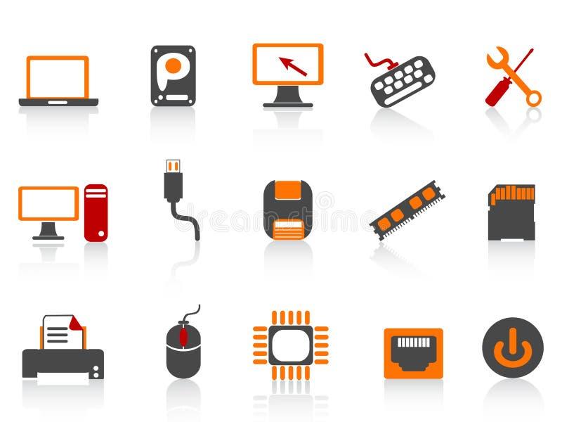 koloru komputerowego wyposażenia ikony serie royalty ilustracja