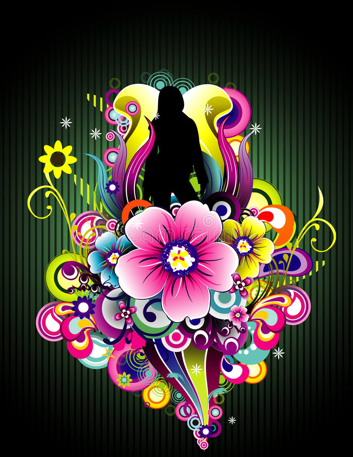 koloru kwiatu wektor ilustracji