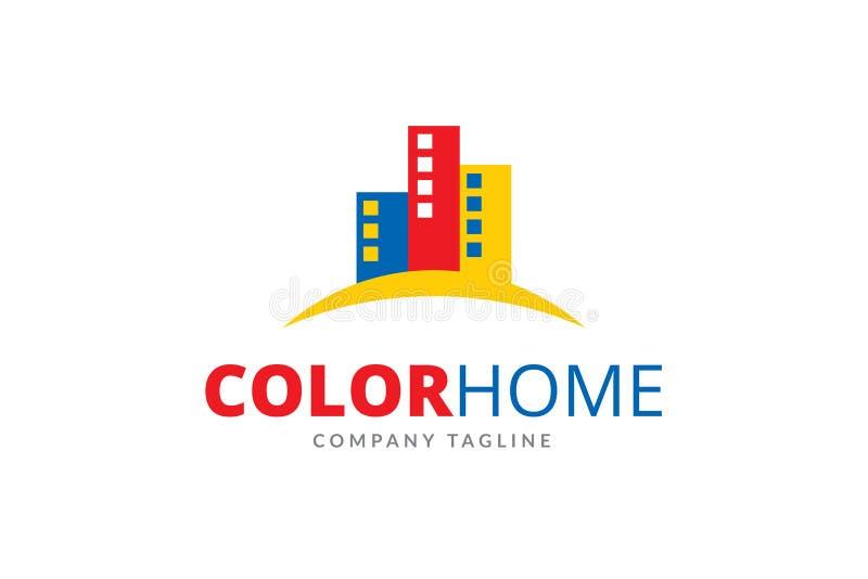 Koloru loga projekta Domowy szablon zdjęcie stock
