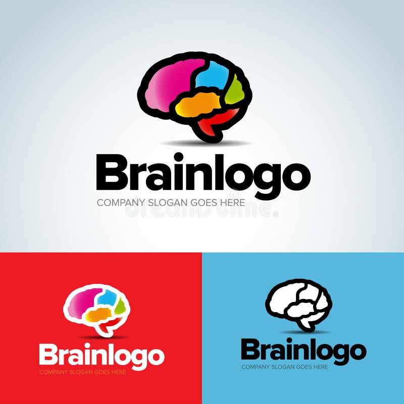 Koloru loga projekta wektoru Móżdżkowy szablon Wytwarza pomysł Brainstorming logotypu pojęcia ikona wszystkie wektory byli mogą r ilustracji