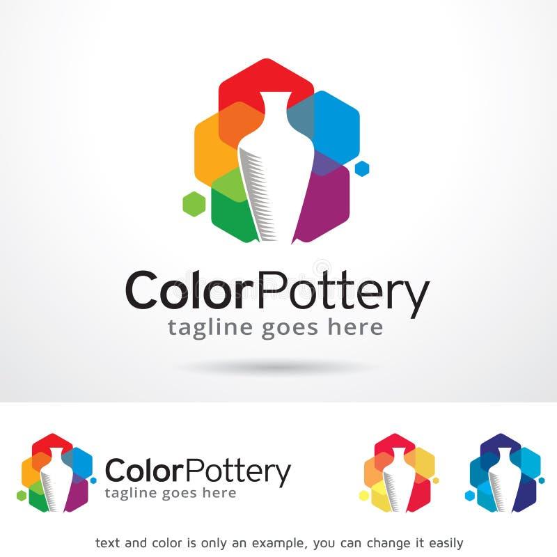 Koloru loga szablonu projekta Ceramiczny wektor royalty ilustracja