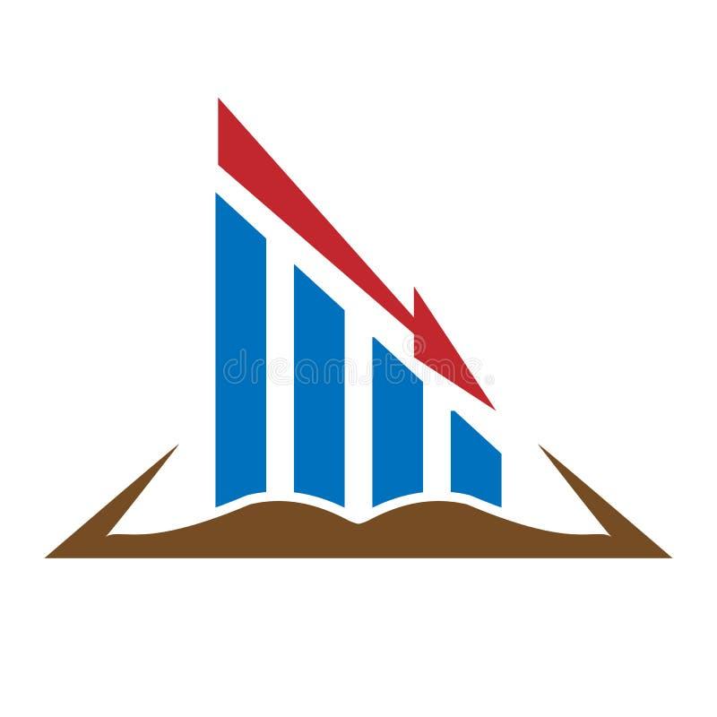 Koloru logo na biznesie i finanse ilustracja wektor