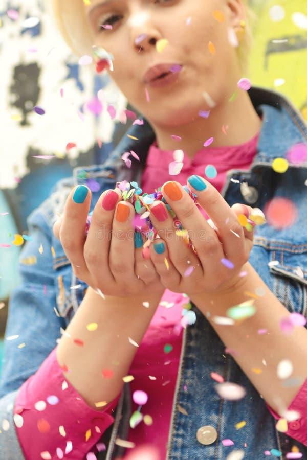 Koloru manicure zdjęcie stock