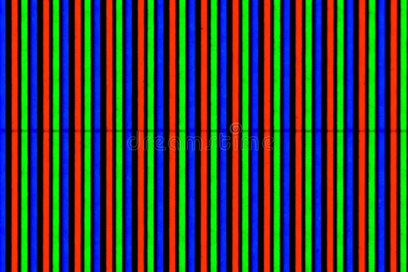 Koloru monitor blisko, makro- fotografia kolorów elementy zdjęcie royalty free