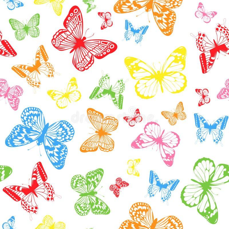 Koloru motyla tło royalty ilustracja