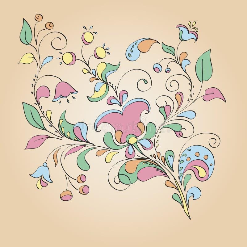 Koloru motyw kwiaty royalty ilustracja