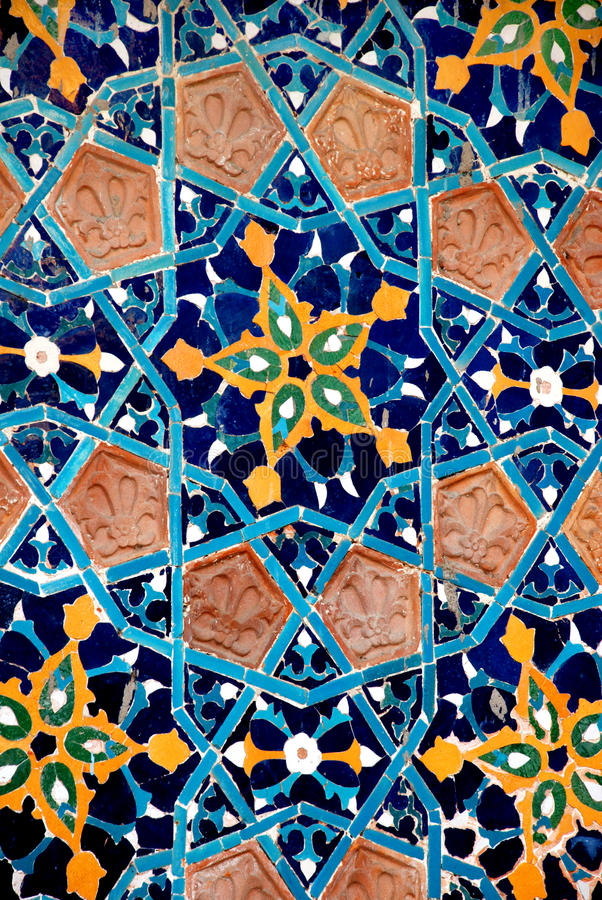 koloru mozaiki stare płytki fotografia stock