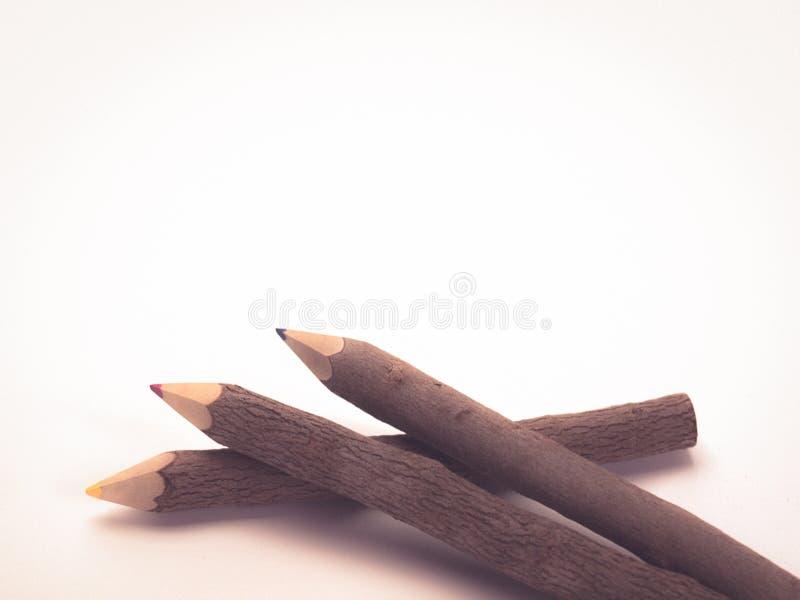Koloru ołówka drewno obrazy royalty free