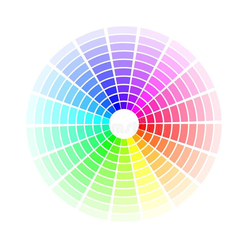 Koloru okr?g Jaskrawi kolorowi t?cza cienie Wektorowa ilustracja odizolowywaj?ca na bia?y tle ilustracji