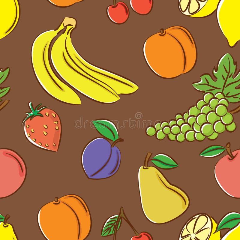 koloru owoc wzór royalty ilustracja