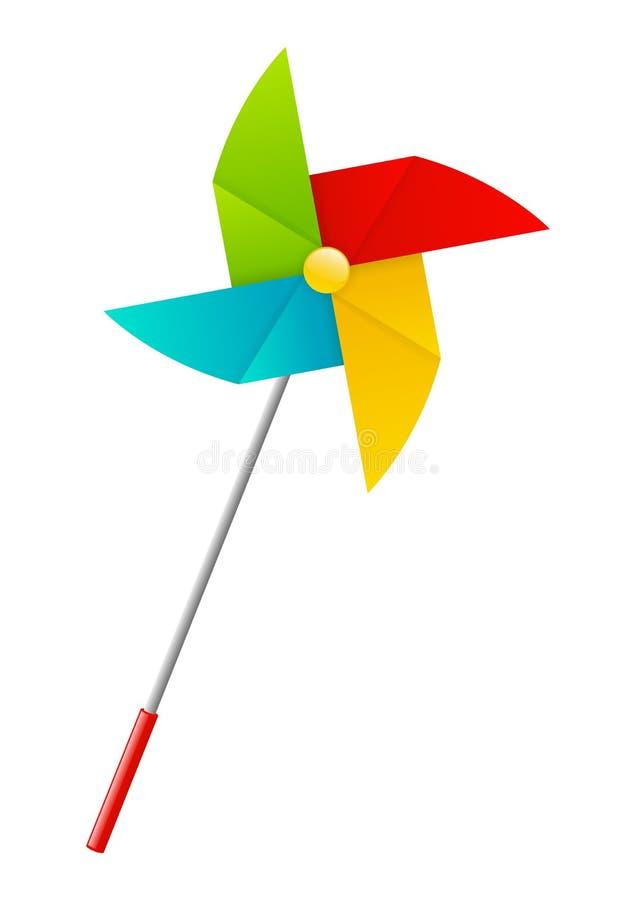 Koloru papierowy pinwheel royalty ilustracja