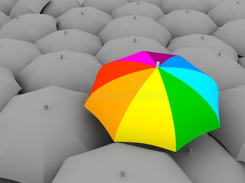 koloru parasol royalty ilustracja