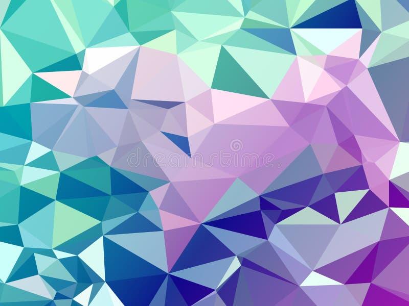 Koloru poligonal abstrakcjonistyczny tło ilustracja wektor