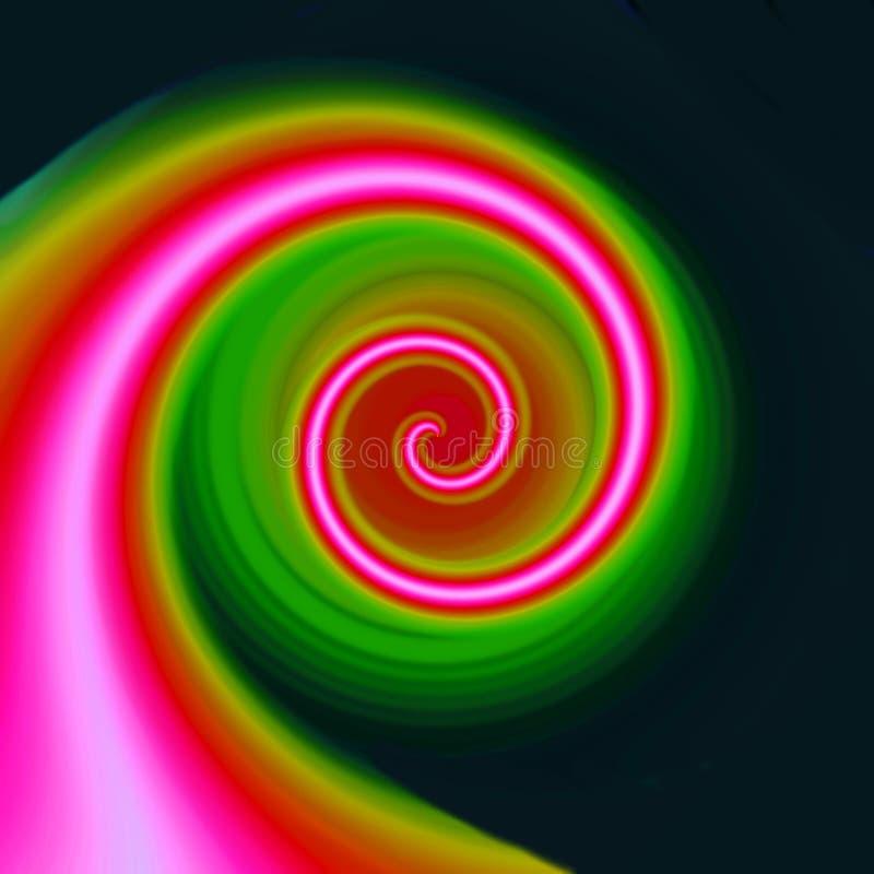 koloru różowego spirali ilustracji
