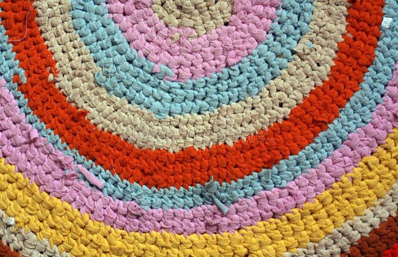 Koloru ręcznie robiony dywanik zdjęcie royalty free